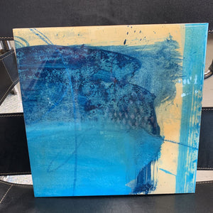Light Blue - Oil w Epoxy Overlay by Frank Carraciolo, NY