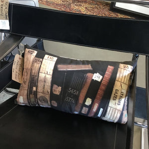 Bookshelf Fabric Pillow