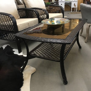 Outdoor Dark Brown Wicker Table - Crosley Furniture