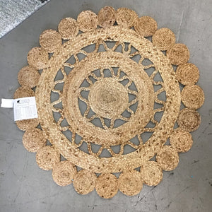 Braided Jute Flower Rug