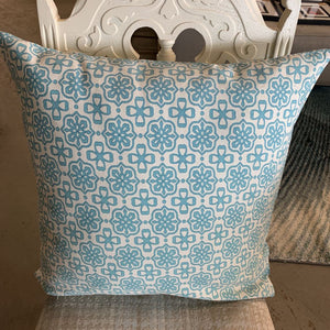 Turquoise Printed Cushion