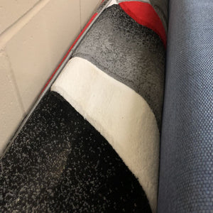Red, Black, Grey Abstract Modern Carpet 9' x 12' #252