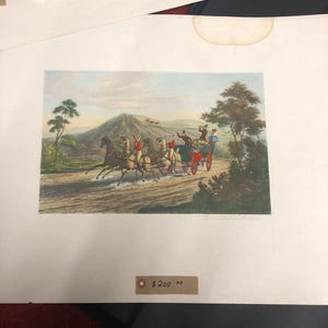 Original Hand Coloured Etching Circa 1900 'One Mile From Gretna' #331
