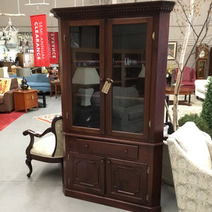 Solid Wood Corner Hutch