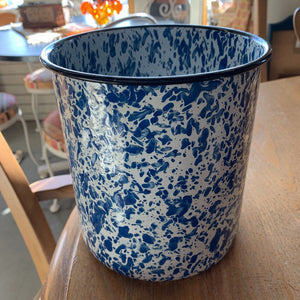 Enamelware Blue White Utensil Holder