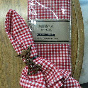 Gingham Red Cotton Napkin (Set of 4)