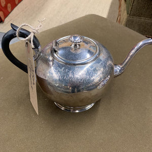 Teapot Silver w Black Handle