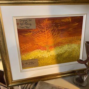 Original Oil - Fiery Tree - Local Artist Kyle Fleming