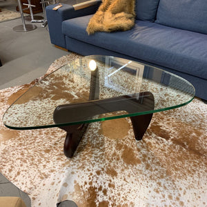 "Noguchi Guitar Pic Shaped Coffee Table - 1"" Thick Glass"