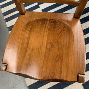 Solid Maple Chair w Carving