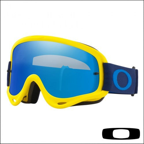 6481c779f Oakley O Frame Yellow Navy - Lente Black Ice & Clear - NCRideTech.com