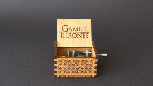 Game of Thrones Theme Song - Engraved Wooden Music Box
