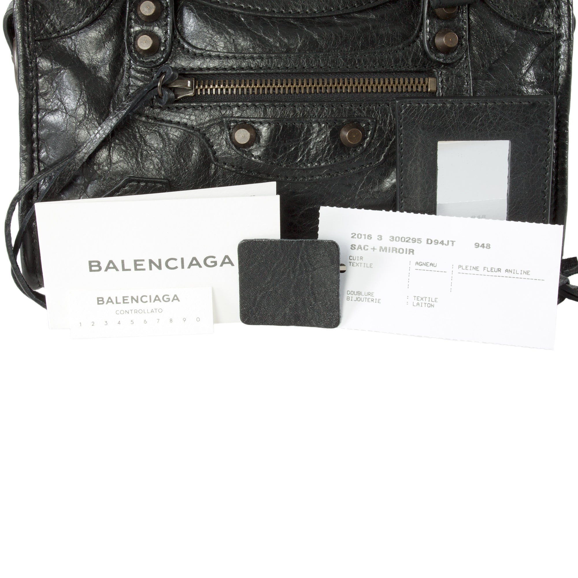 Balenciaga Classic Mini City Leather Bag