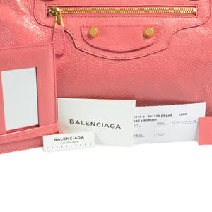 Balenciaga Giant 12 Gold City Leather Bag | Rose Azalee w/ Gold Hardware | Medium