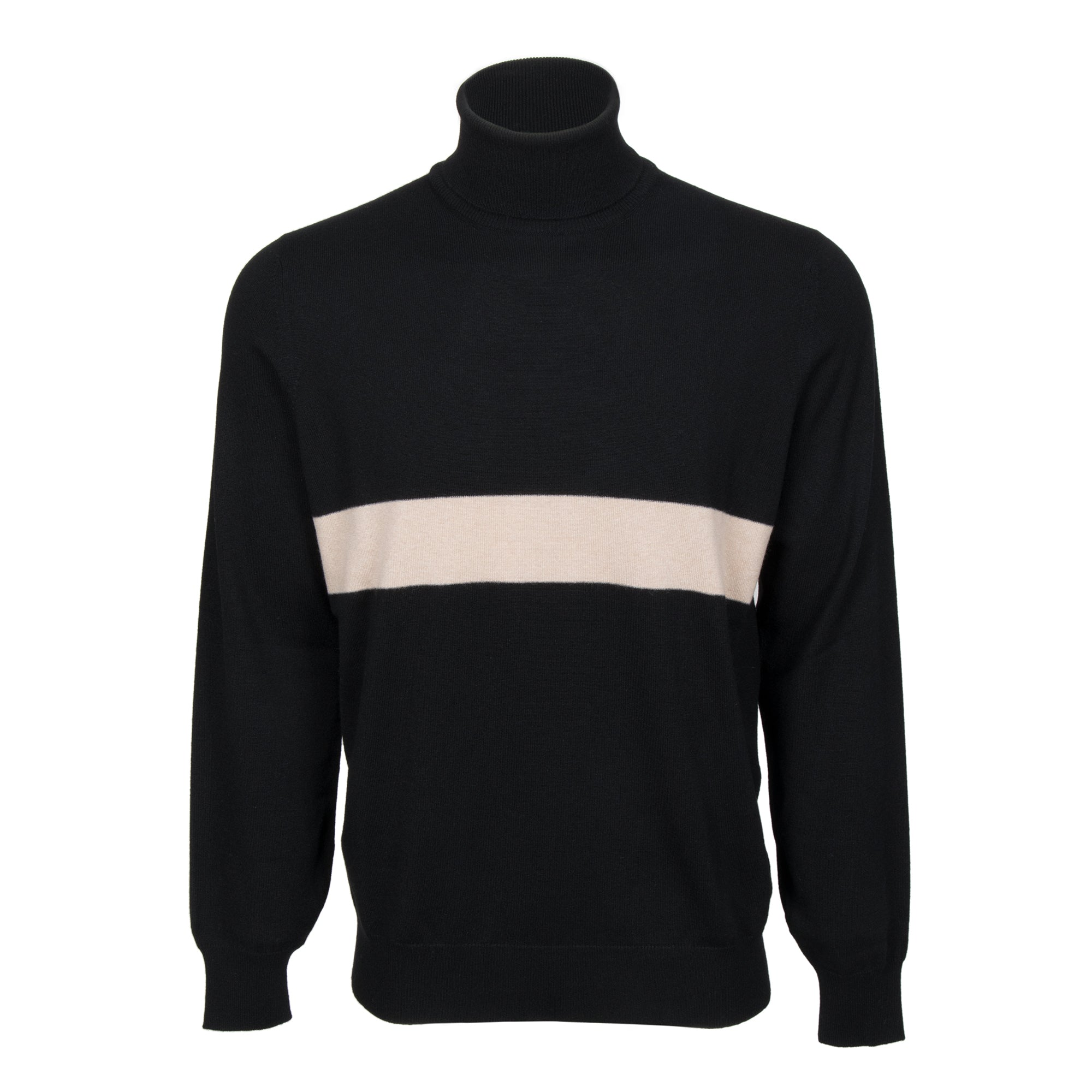 Brunello Cucinelli Turtleneck Cashmere Sweater in Black