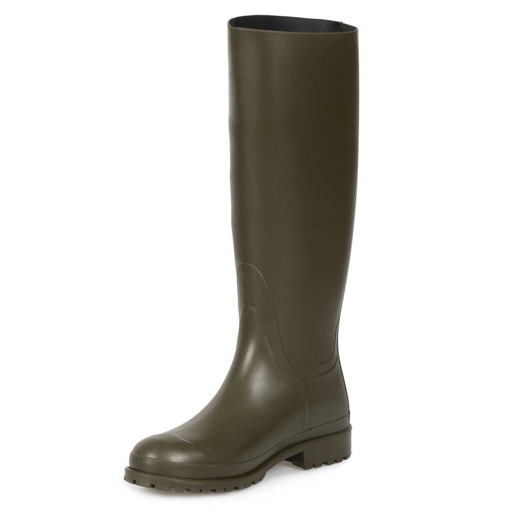 Saint Laurent Olive Green Rain Boots