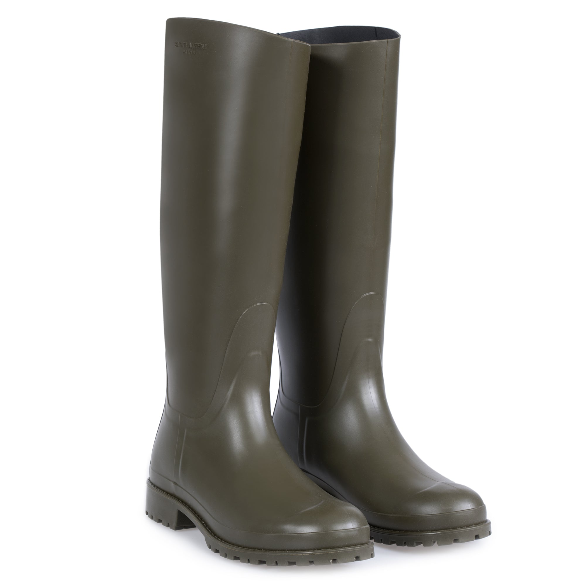 Saint Laurent Olive Green Rain Boots - Size 40