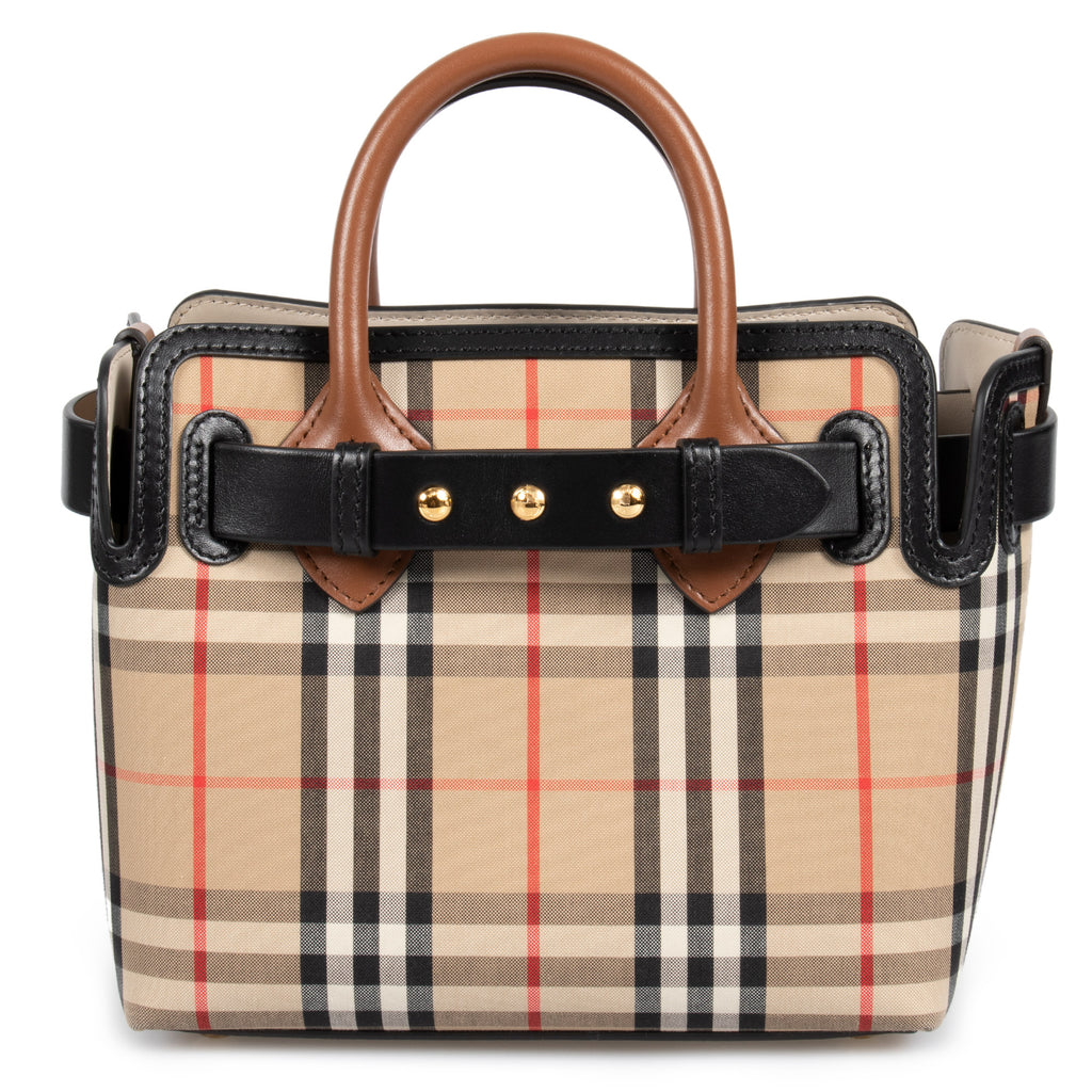 Burberry Mini Vintage Check Triple Stud Belt Bag