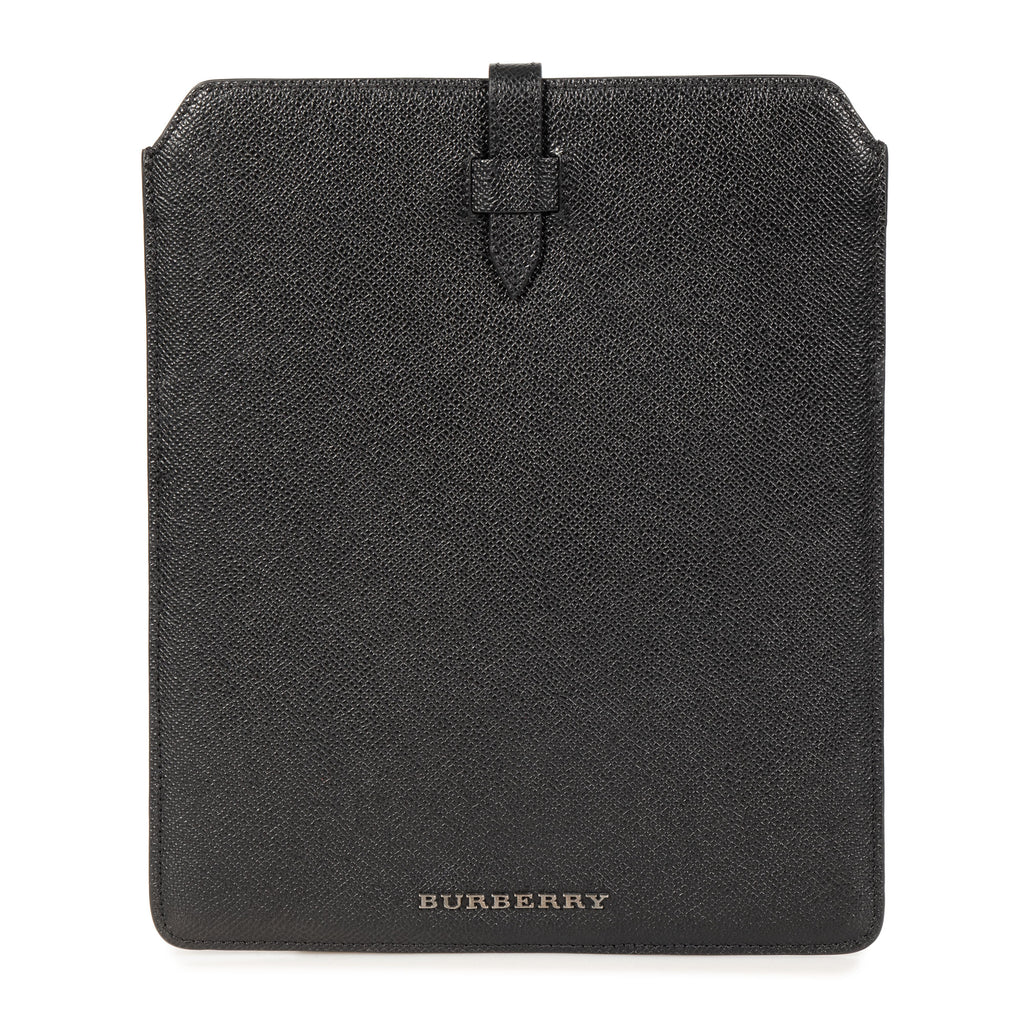 Burberry Burberry Black Pebbled Leather iPad Case