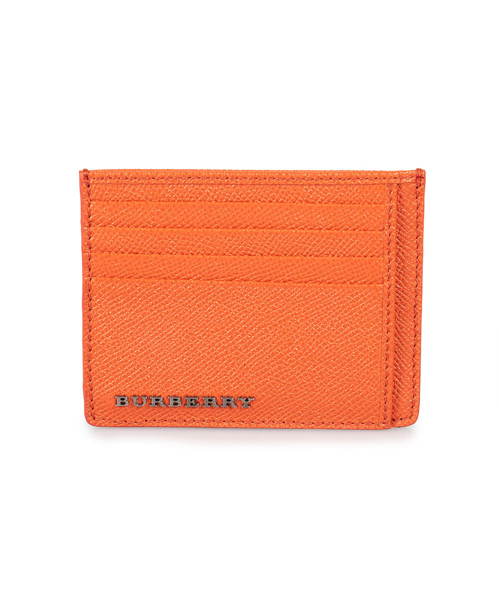 Burberry Burberry Burnt Orange London Grained Leather Bernie Card Case