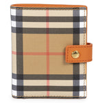 Burberry Burberry Small Vintage Check and Orange Leather Folding Wallet