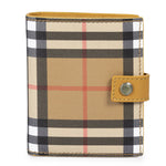 Burberry Burberry Small Vintage Check and Tan Leather Folding Wallet
