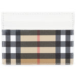 Burberry Burberry Vintage Check E-Canvas White Leather Card Case