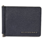 Burberry Burberry Navy Bifold Card Wallet With Metal Clip
