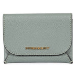 Burberry Burberry Haymarket Mayfield Leather Card Case in Myrtle Green