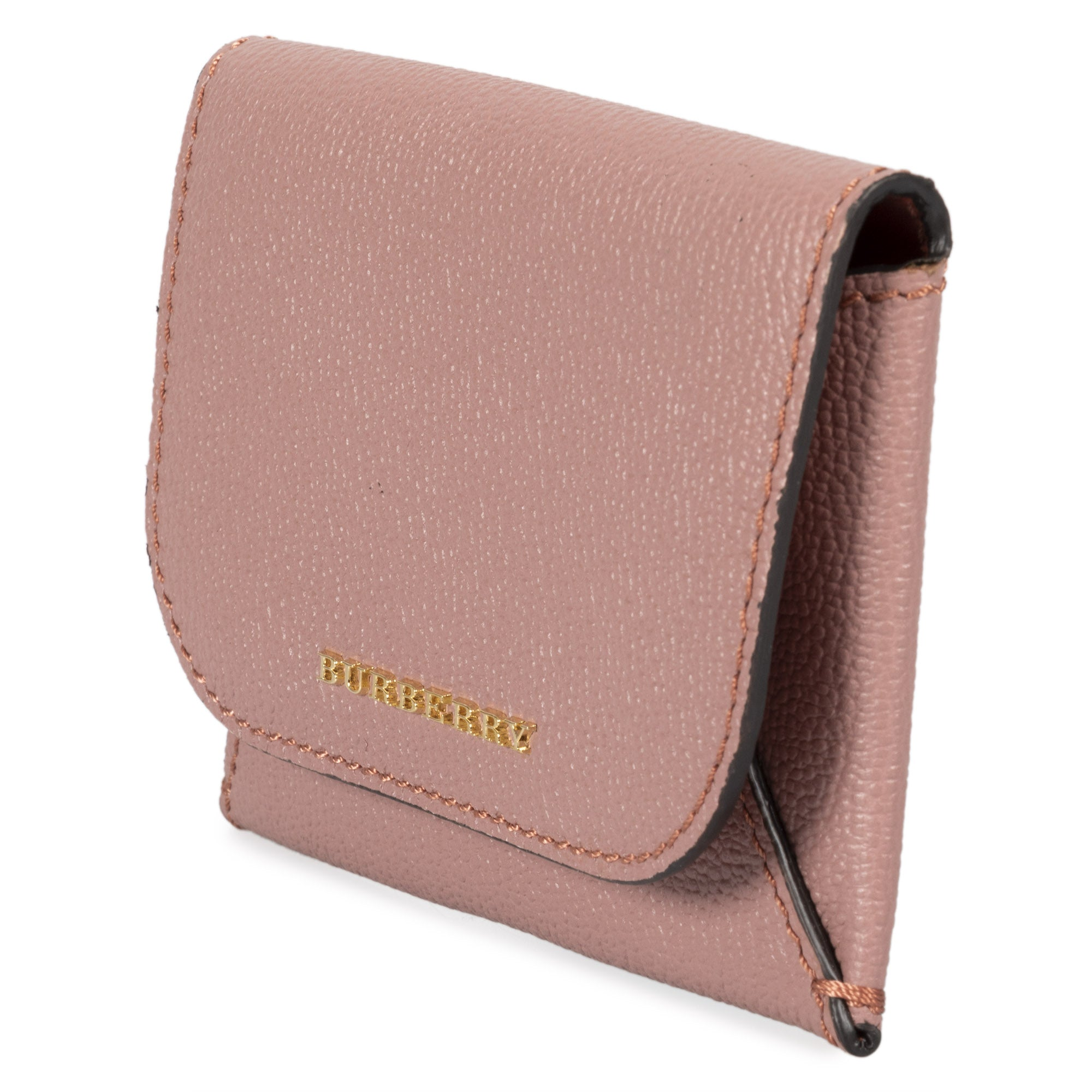 Burberry Burberry Haymarket Mayfield Leather Card Case in Dark Pink