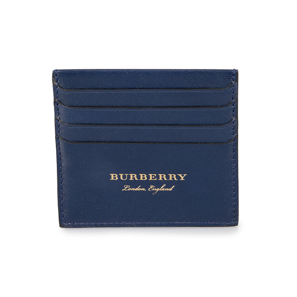 Burberry Burberry Sandon Trench Blue Smooth Leather Card Case
