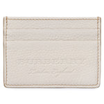 Burberry Burberry Sandon Light Grey Grained Leather Card Holder
