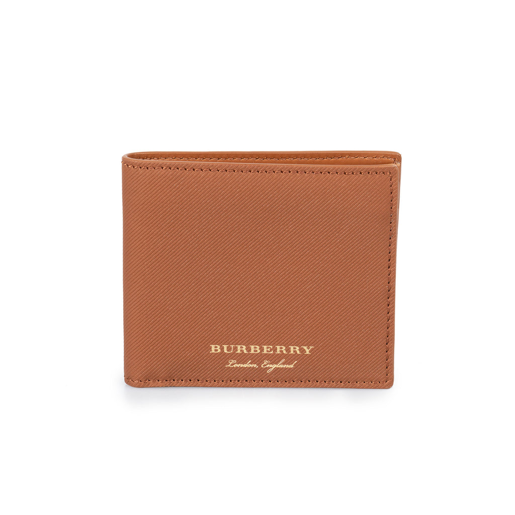 Burberry Burberry Trench Tan Ribbed Leather Hipfold Wallet
