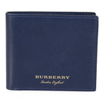 Burberry Burberry Trench Navy Smooth Leather Hipfold Wallet