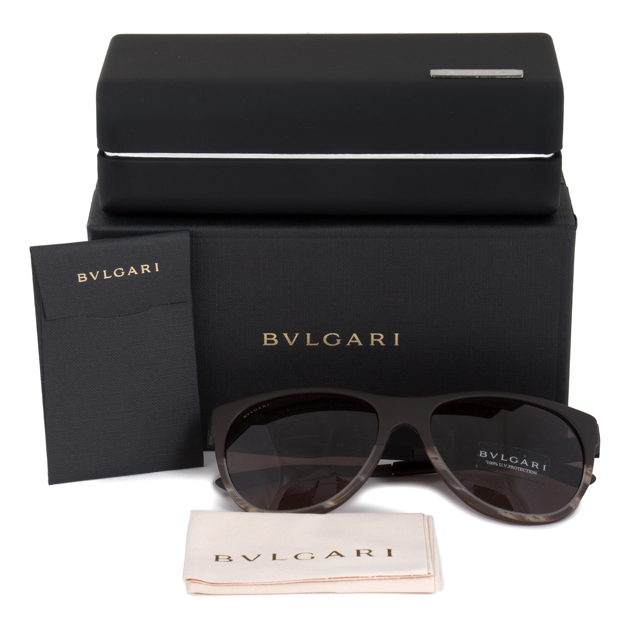 Bvlgari Square Sunglasses BV7025 | Brown Frame | Brown Lenses