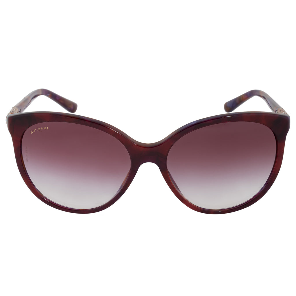 Bvlgari Cat Eye Sunglasses BV8147B 52708H 57 | Multicolored Burgundy Frame | Burgundy Gradient Lenses