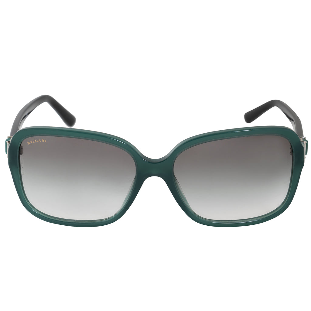Bvlgari Square Sunglasses BV8150B 53328E 58 | Green Acetate Frame | Gray Gradient Lenses