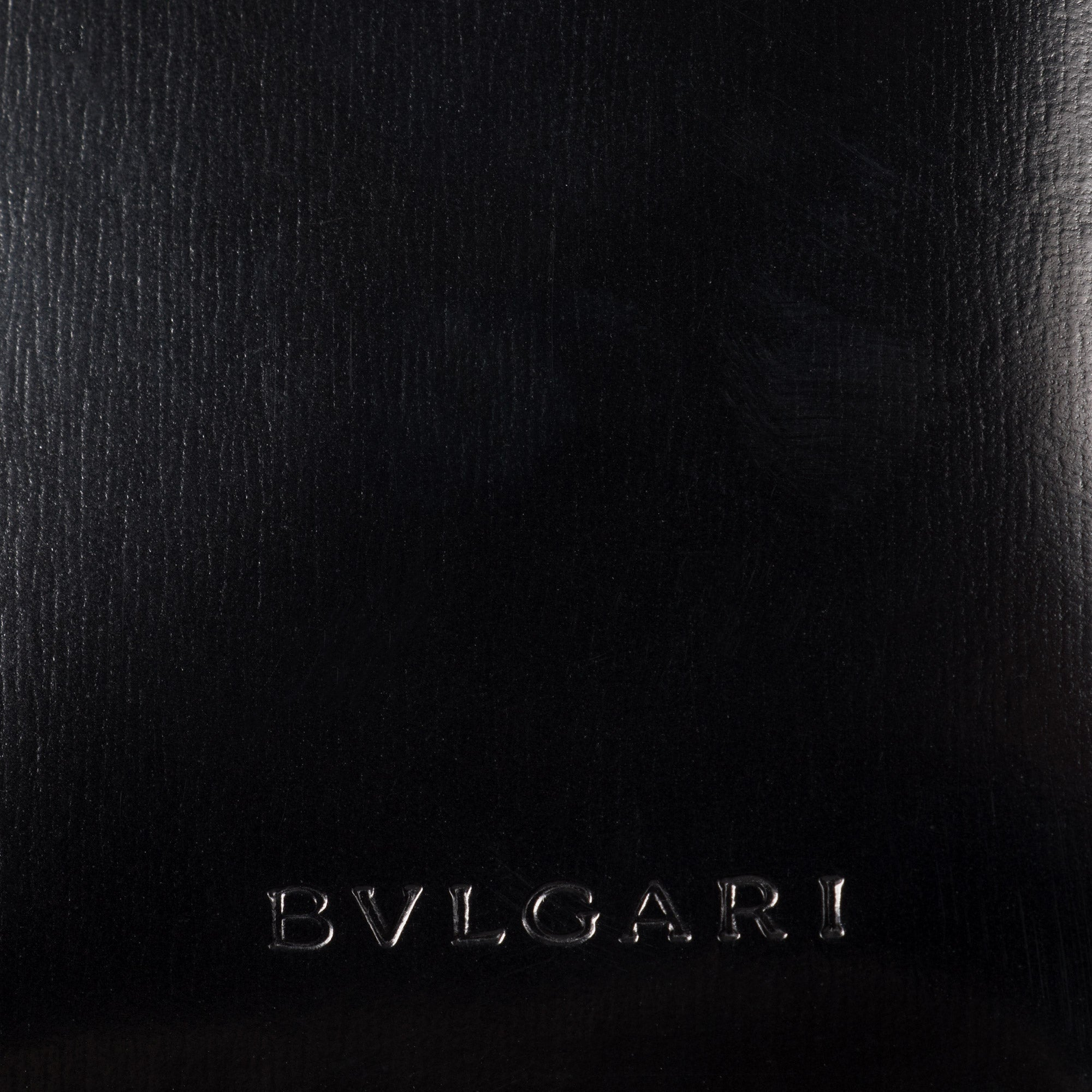 Bvlgari Smooth Black Leather Flap Wallet