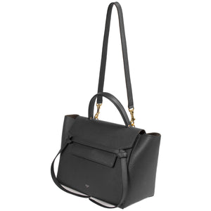 Celine Medium Belt Bag | Black Grained Leather | Gold Hardware