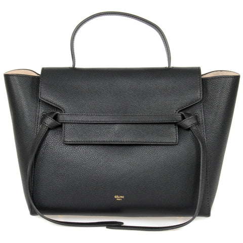 Celine Belt Bag | Black Grained Leather