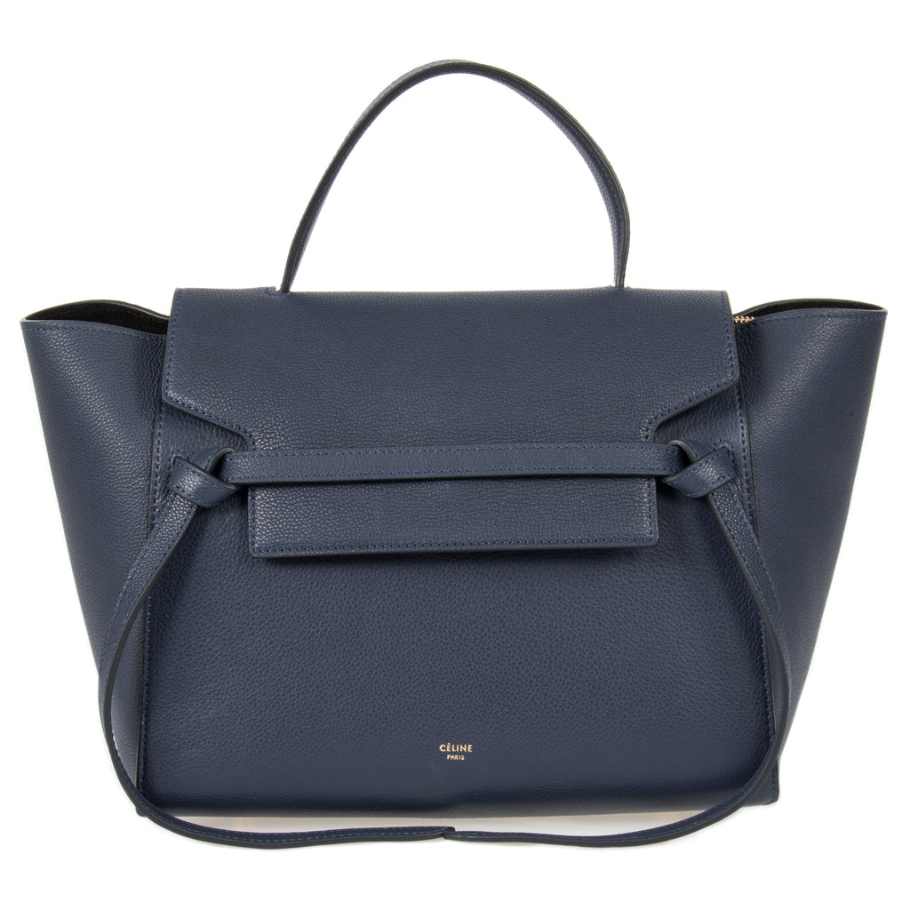 Celine Belt Bag | Navy Grain Calfskin | Medium