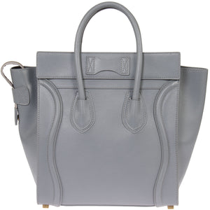 Céline Micro Luggage Handbag | Smooth gray Calfskin