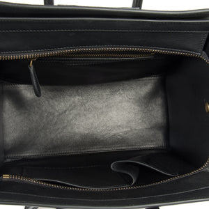 Céline Micro Luggage Leather Bag | Tri-Color Black w/ Gold Hardware