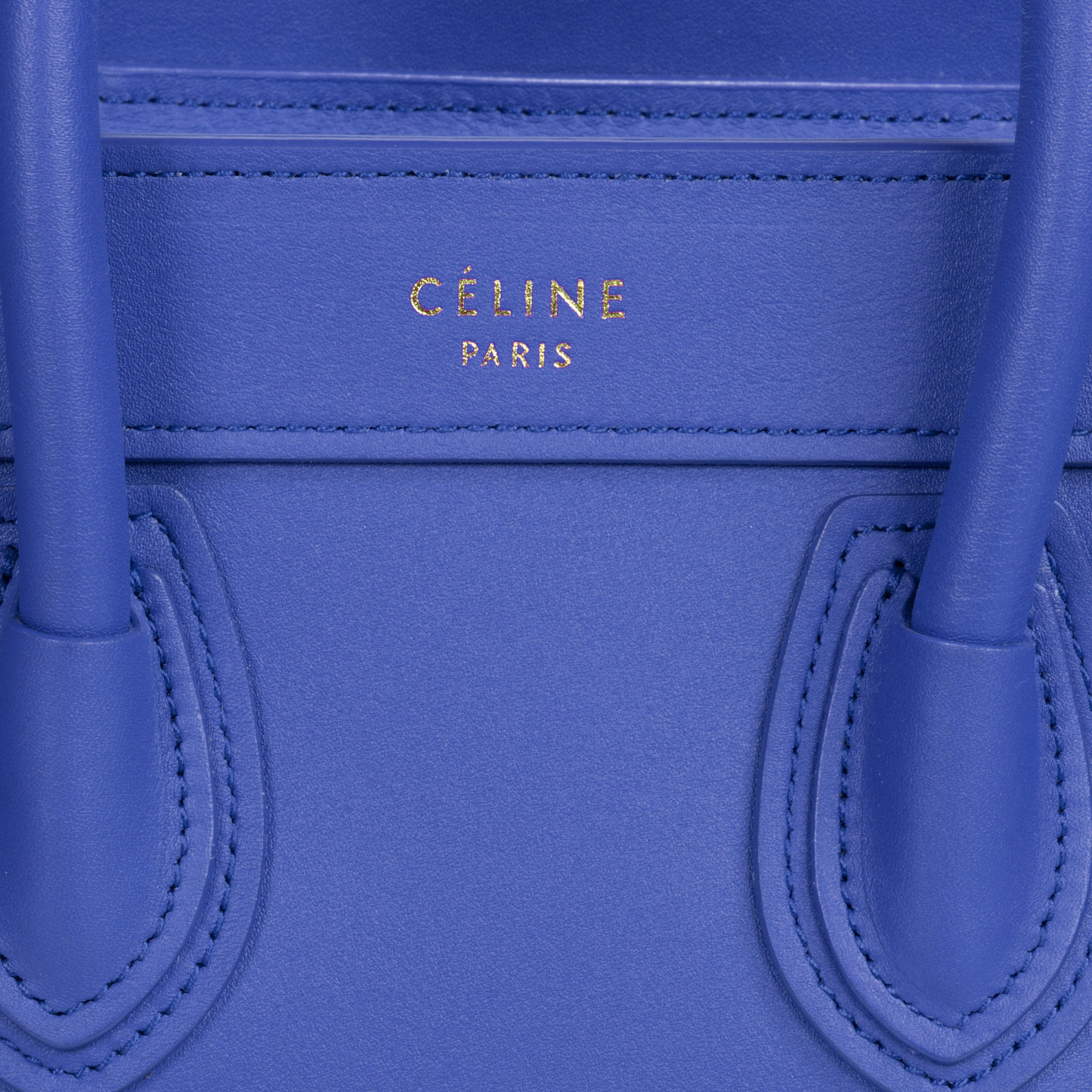 Céline Nano Luggage Bag in Smooth Indigo Calfskin Leather