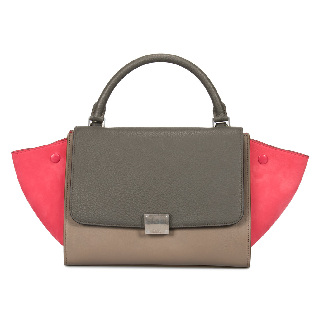 Celine Small Tri-Color Trapeze Leather Bag