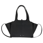 Céline Tri-Fold Shoulder Bag | Black Grained Leather