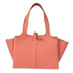 Céline Tri-Fold Shoulder Bag | Peach Grained Calfskin Leather