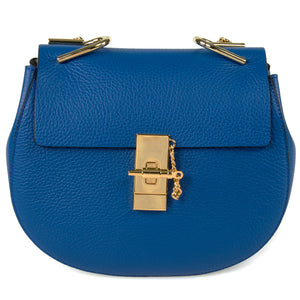 Chloe Drew Bag | Blue with Gold Hardware | Medium