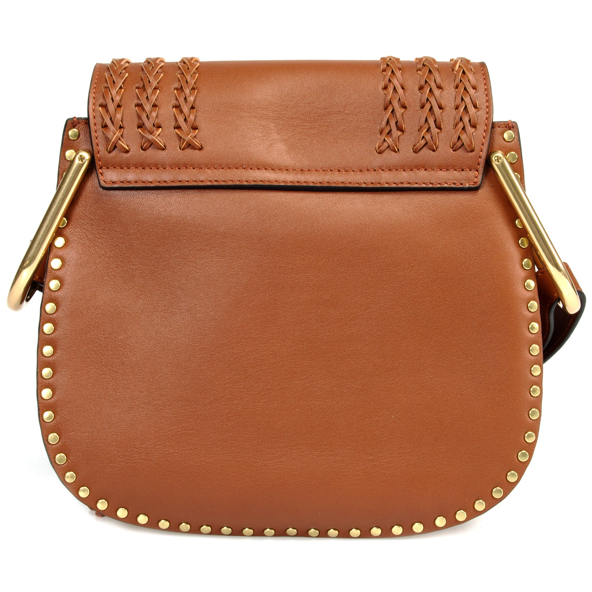 Chléoe Hudson Calfskin Shoulder Bag | Caramel with Gold Hardware