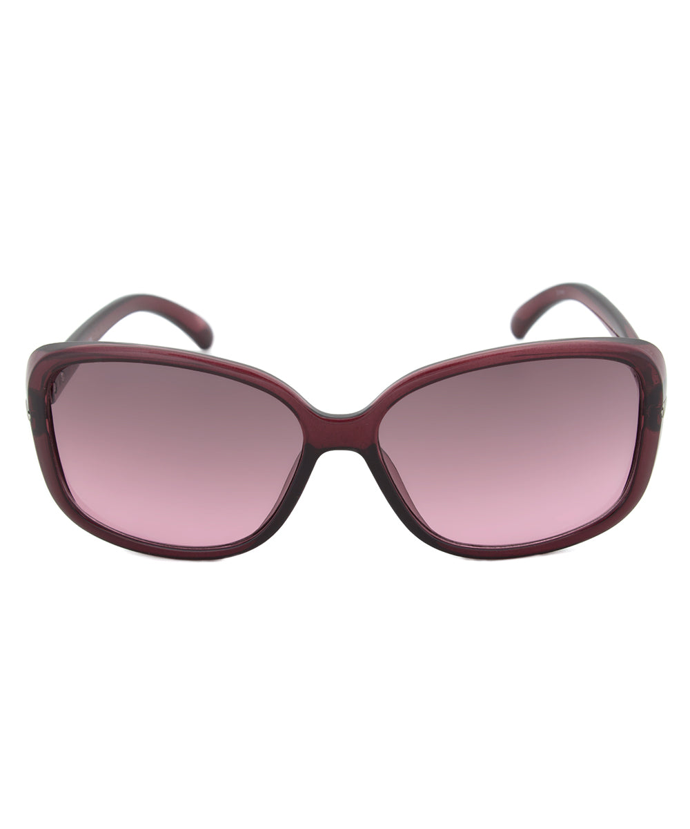 Calvin Klein R673S Purple Translucent Square Sunglasses